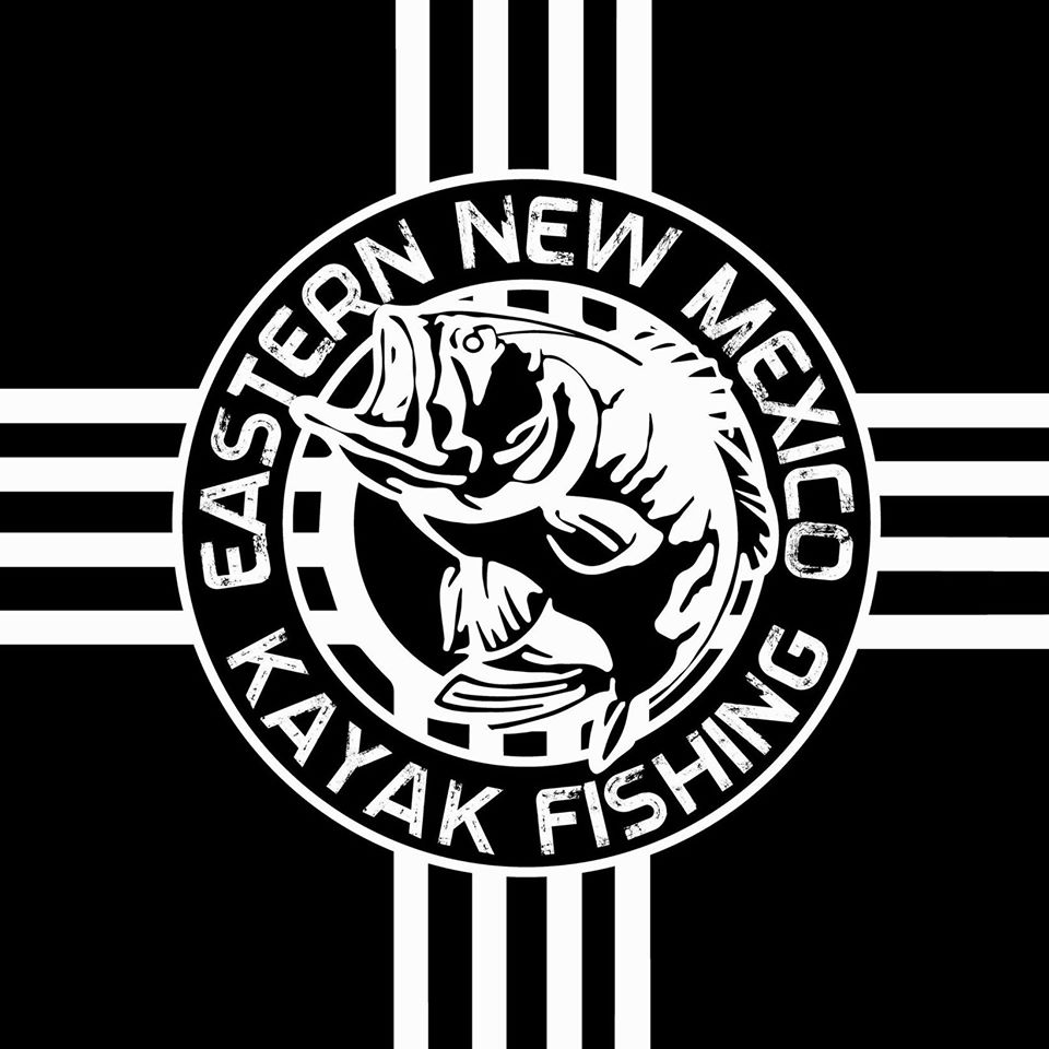 Eastern New Mexico Kayak Fishing - Black Logo