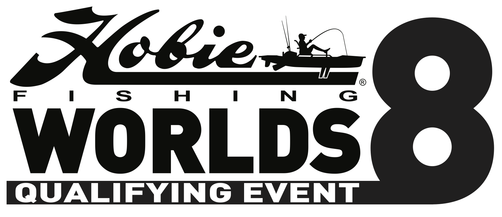 Hobie Worlds 8 Logo - Black